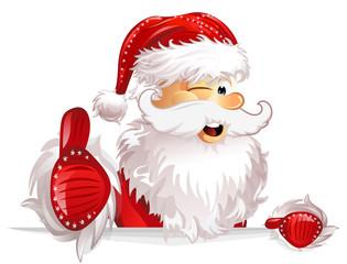 Weihnachtsmann Daumen hoch © Matthias Enter