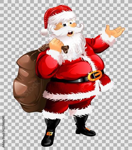 Weihnachtsmann transparent