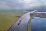 Aerial view of canal in Friesland - 235673855