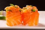 salmon sushi rolls © paulovilela