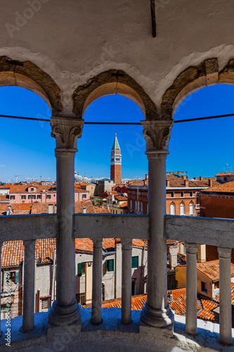 View from Palazzo Contarini del Bovolo in Venice Italy