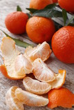 Tangerine peeled and divided into lobules.