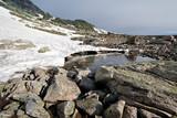 Lagunas formadas por el deshielo en primavera. Parque Natural de las Lagunas de Peñalara. Madrid. España - 235713402