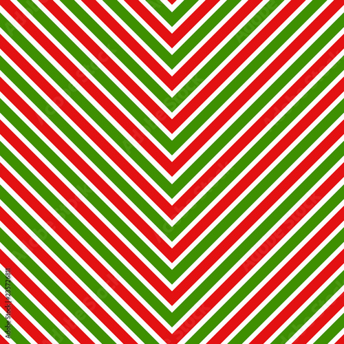Czerwone i zielone paski Boże Narodzenie geometryczny wzór
