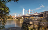 Chelsea Bridge and the River Thames, London