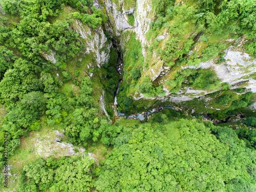 fototapeta na ścianę Aerial view of canyon Nevidio in Montenegro.Europe