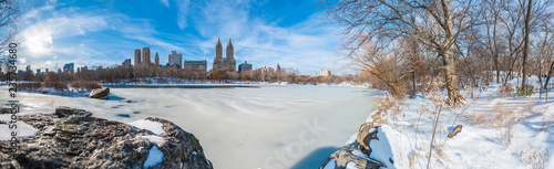 Winter in Central Park, New York, United States. - 235734680