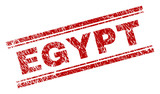 EGYPT seal print with distress texture. Red vector rubber print of EGYPT text with dirty texture. Text caption is placed between double parallel lines. - 235738098