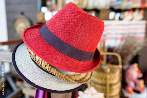 fb102220 Fabric Hats in Thai Souvenir Shop | Buy Photos | AP Images | DetailView