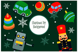 set of elements for merry christmas and new year