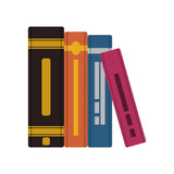 pile text books isolated icon - 235763405