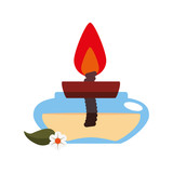 aromateraphy candle spa icon