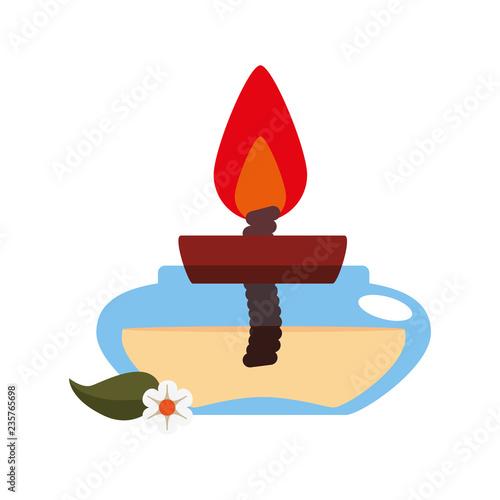 Ikona spa świeca aromateraphy