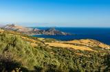 Blick über die Südküste von Kreta in der Abendsonne