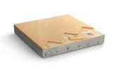 Floor layers. Piece of parquet floor. 3d illustration