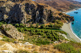 Blick über das Palmental von Preveli, Kreta