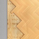 Floor layers. Parquet floor. 3d illustration - 235774668