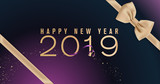 Happy New Year 2019. Vector illustration concept for background, greeting card, website and mobile website banner, party invitation card, social media banner, marketing material. - 235776602