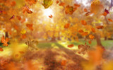 Beautiful, colorful autumn in an european country - 235784831