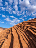 Layers of sandstone at sunrise, Petrified Dunes, Snow Canyon SP, Utah