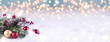 Leinwandbild Motiv Christmas Winter Background Panorama