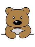 rahmen text schreiben teddy grizzly bär bärchen comic cartoon clipart süß niedlich design