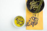 Fresh lavender and sage © kolesnicov