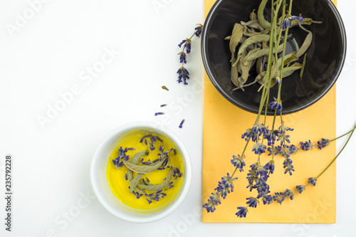 Fresh lavender and sage - 235792228