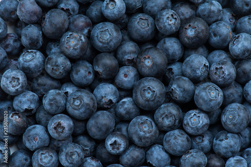 Arrangement blueberries for fruit background - 235801020