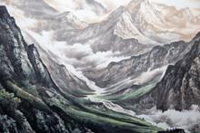 "Постер, картина, фотообои ""Chinese traditional painting of landscape"""