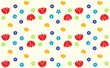 seamless floral pattern with colorful flowers - 235815007