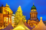 Christmas market, French church and konzerthaus in Berlin, Germany - 235823803