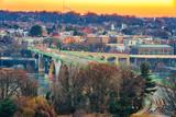 Traffic on Key bridge at winter morning, Washington DC, USA - 235824804