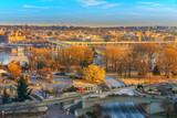Traffic on Key bridge at winter morning, Washington DC, USA - 235824882