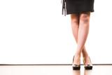 Unrecognizable woman wearing high heels - 235836695