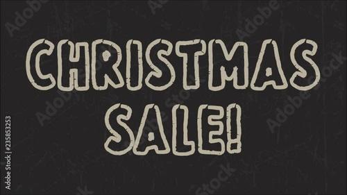 Christmas sale advertising message by chalk on blackboard © Eva Kali