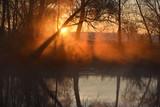 Morning mist over river
