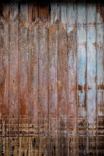 Lames de bois et peinture usée - 235859682