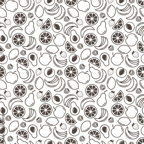Fruits background Food pattern - 235872886