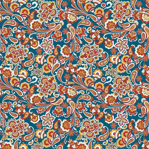 Paisley Pattern. Seamless Asian Textile Background - 235891837