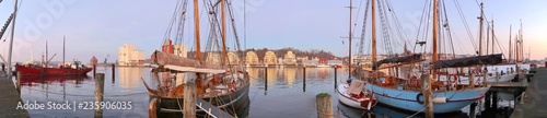 Panorama of the harbour in the german town Flensburg - 235906035