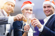 Leinwandbild Motiv Group of business people celebrating success