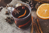 Mulled wine. Christmas drink.