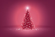 beautiful pink christmas tree of lights