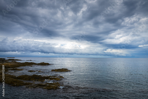 855371f20ad0 North coast of Corsica on a cloudy autumn day