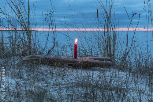 Leinwandbild Motiv 1. Advent am meer