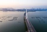 Aerial view of Shenzhen Bay Bridge