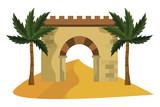 wall entrance bricks antique - 235970096