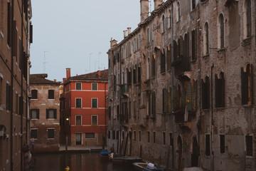Venetian facade with windows and doors