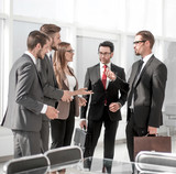 business team discusses business issues - 236002094